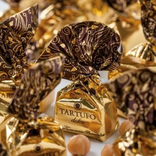 Конфеты ТрюфелиДольчи Золотая коллекция в подарочной коробке