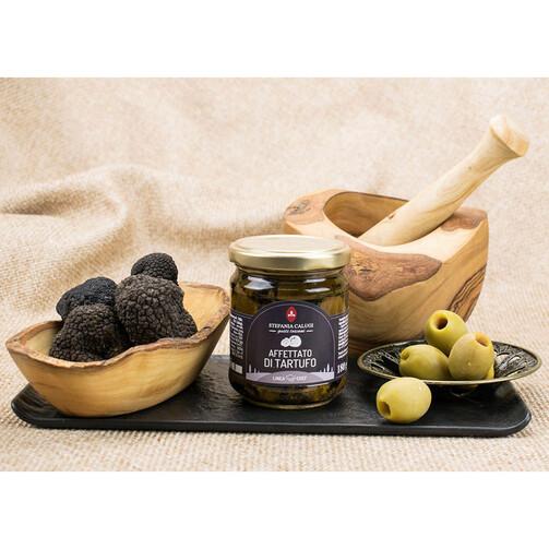 Карпаччо из черного трюфеля слайсы в оливковом масле