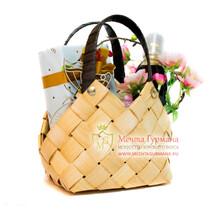 Подарочный набор в плетеной сумочке мини
