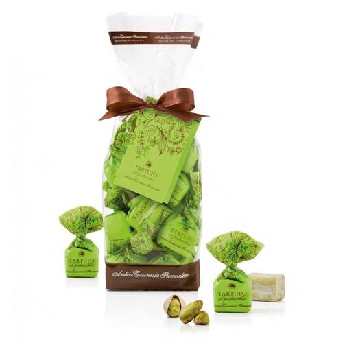 Конфеты Трюфели с фисташками в подарочном пакете