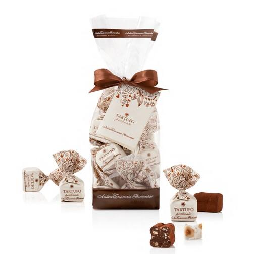 Конфеты Трюфели с пралине в подарочном пакете