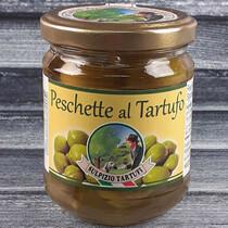 Зеленые персики в трюфельном масле