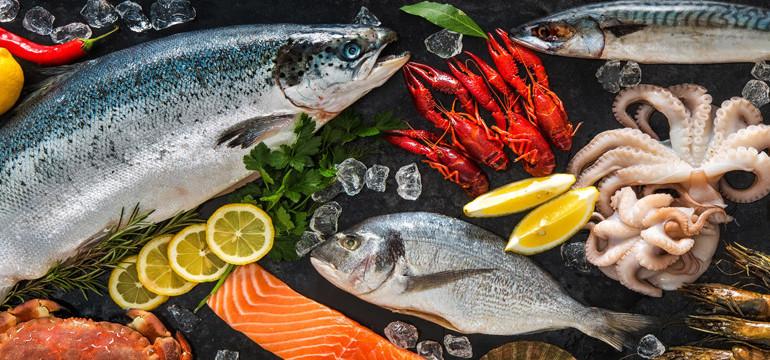 Свежые морепродукты
